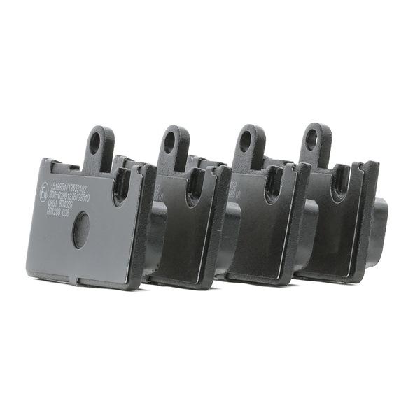 RIDEX 402B1237 Brake pad set disc brake