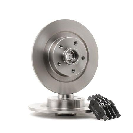 RIDEX Hinterachse, Voll, mit ABS-Sensorring, mit Radlagersatz 3405B0110