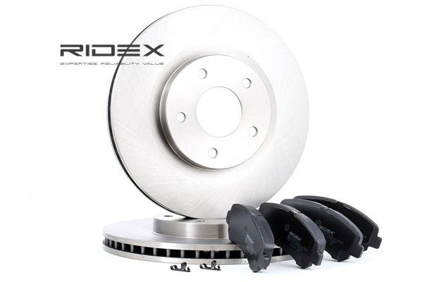 RIDEX Vorderachse, belüftet, mit akustischer Verschleißwarnung 3405B0122