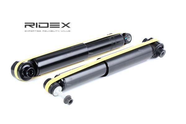 Amortiguador RIDEX 13559768 Eje trasero, Bitubular, Presión de gas, Amortiguador telescópico, Anillo superior