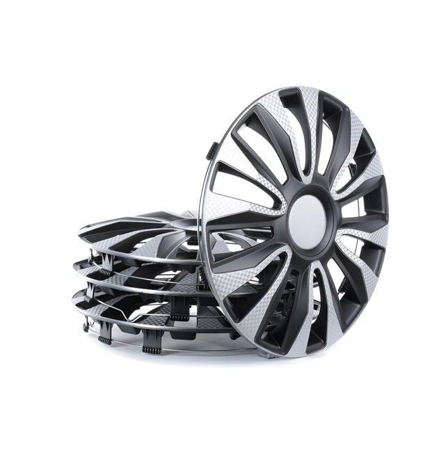 Copricerchi Unità quantitativa: Serie / Kit, nero/argento, carbonio 14AVALONECARBONSB