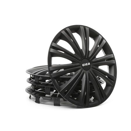 Wheel covers Quantity Unit: Kit, Black 14GIGABLACK