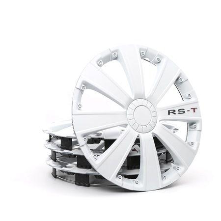ARGO Hjulkapsler 15 RST WHITE