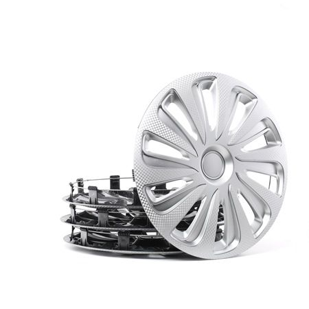 Kołpak Jednostka ilości: Zestaw, srebrny, węglowy 16CALIBERCARBON
