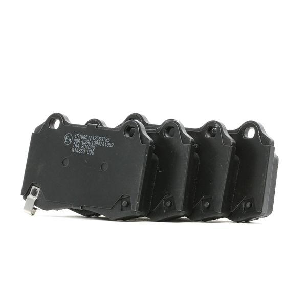 Bremsbelagsatz, Scheibenbremse Breite: 107,7mm, Höhe: 69,2mm, Dicke/Stärke: 14,7mm mit OEM-Nummer 105506800B