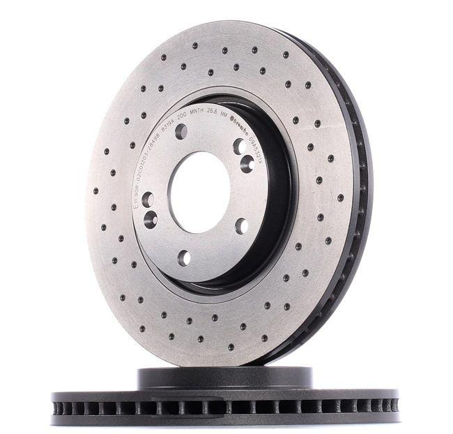 Frenos de disco BREMBO 13583027 Perforado/ventil. int., revestido, altamente carbonizado, con tornillos
