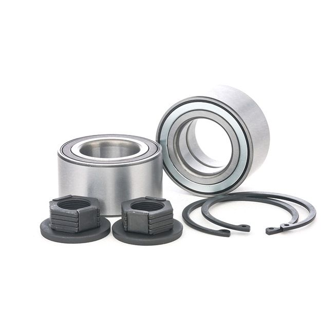 Axle shaft bearing RIDEX 13625424 Front axle both sides, Contains two wheel bearing sets