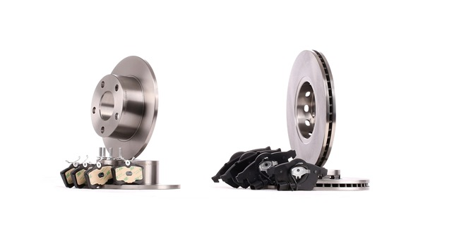 RIDEX Brake discs and pads VW Front Axle, Rear Axle, Solid, Vented, incl. wear warning contact, not prepared for wear indicator