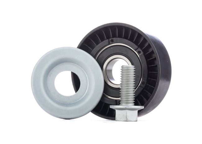 Belt tensioner pulley RIDEX 13630782 Ø: 65mm, with add-on material
