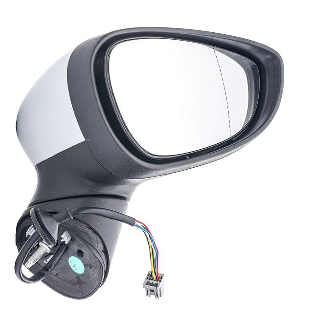 RIDEX Külső visszapillantó tükör FORD jobb, elektr. tükörállításhoz, aszférikus, fűthető, festhető