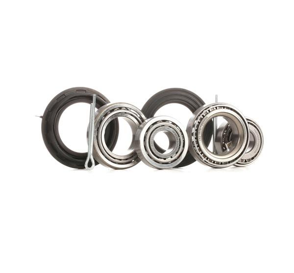 Wheel hub RIDEX 13633822 Rear Axle, Contains two wheel bearing sets