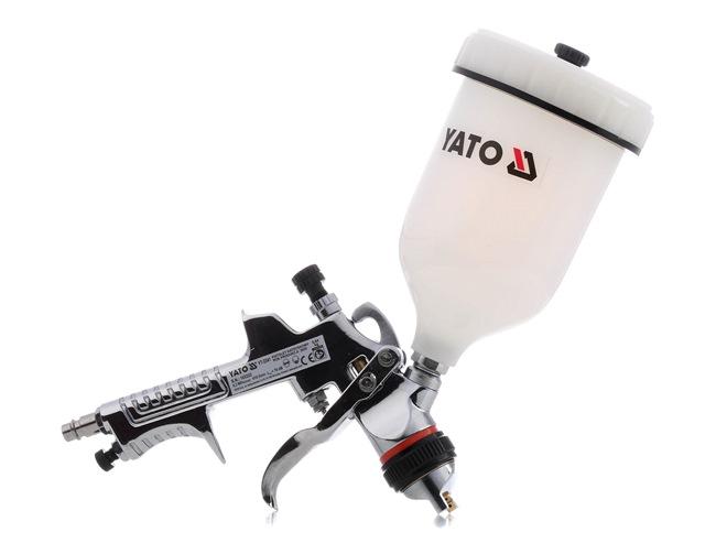 Farbsprühpistolen YATO YT-2341 für Auto (Inhalt: 0,6l, Anschlussgewinde: 1/4, Luftverbrauch: 410l/min)
