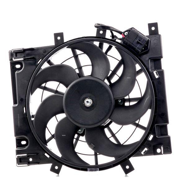 RIDEX Вентилатор за радиатор OPEL с рамка на вентилатора на радиатора