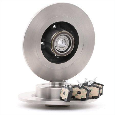 RIDEX Hinterachse, Voll, mit Radlager, mit ABS-Sensorring 3405B0293