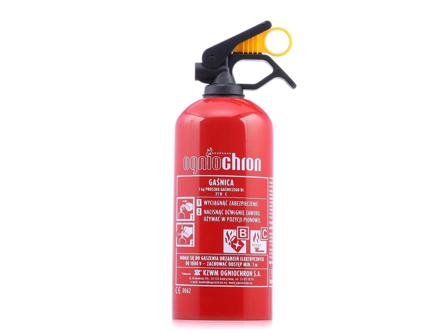 Extintor OGNIOCHRON GP1Z BC 1KG classificação