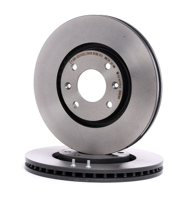 Brake discs and rotors BREMBO 13801716 Internally Vented, Coated, with bolts/screws