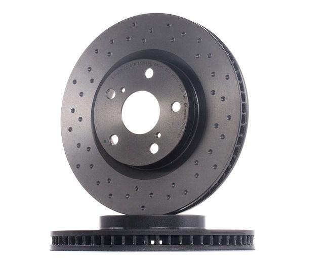 Frenos de disco BREMBO 13801719 Perforado/ventil. int., revestido, altamente carbonizado