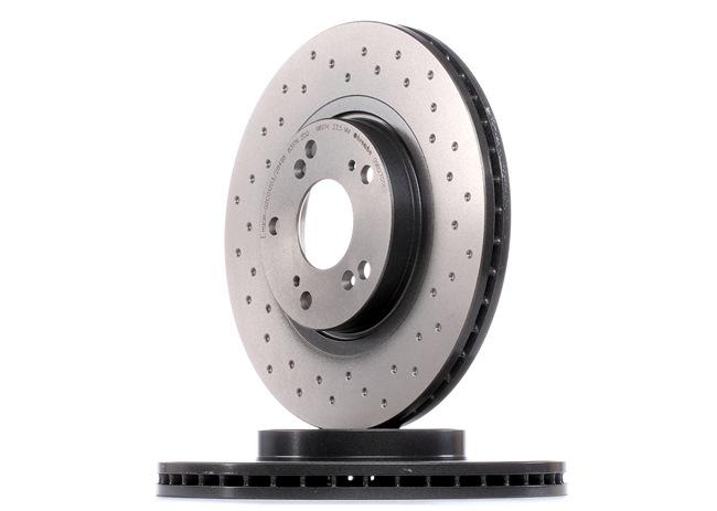Спирачни дискове BREMBO 13801737 надупчен/ вътр. вентилиран, с покритие, високовъглеродна, с винтове