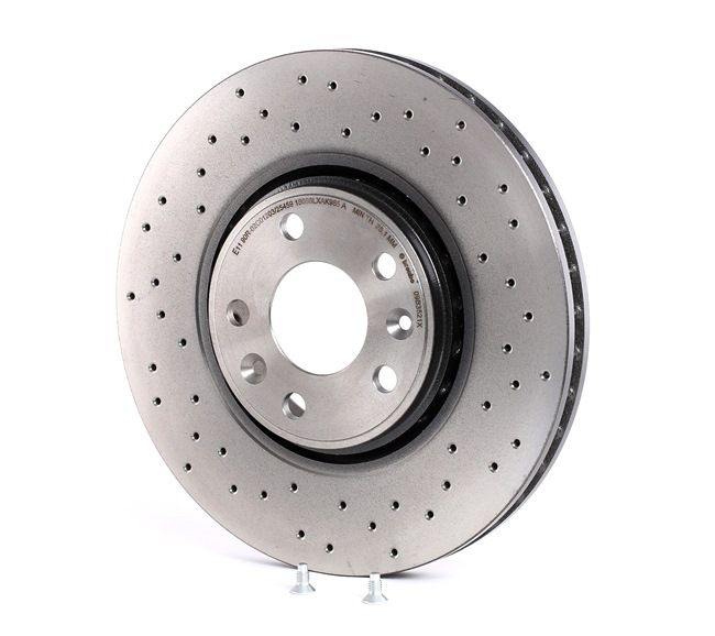Brake discs and rotors BREMBO 13801739 Perforated / Vented, Coated, High-carbon, with screws