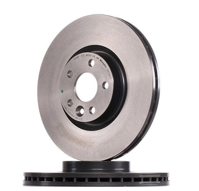 Brake discs and rotors BREMBO 13801751 Internally Vented, Coated, High-carbon