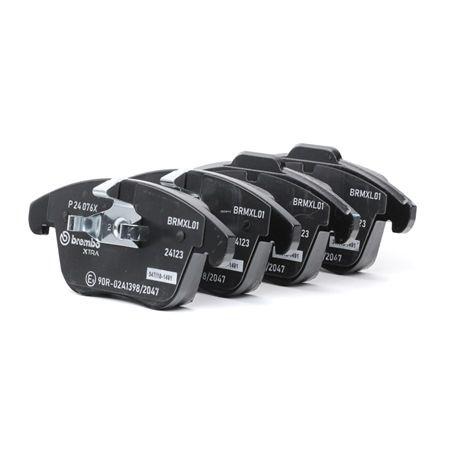 OEM Brake Pad Set, disc brake BREMBO D13068421 for JAGUAR