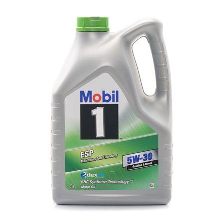 MOBIL Motorolajok VW 504 00 5W-30, Térfogat: 5l