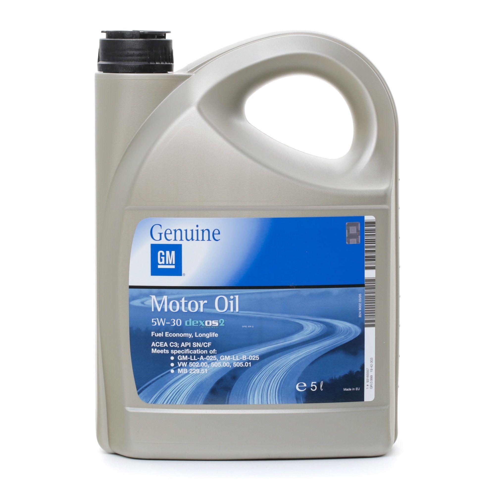 Olio motore OPEL GM 19 42 003 valutazione