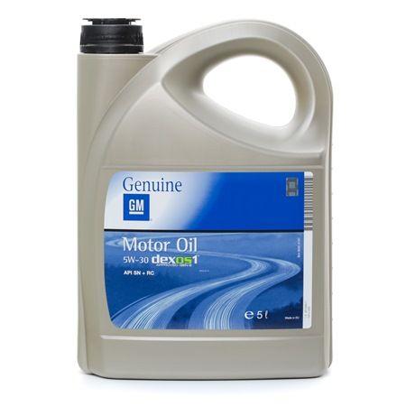 OPEL GM Motorenöl DEXOS1 GEN 2 5W-30, Inhalt: 5l, Synthetiköl