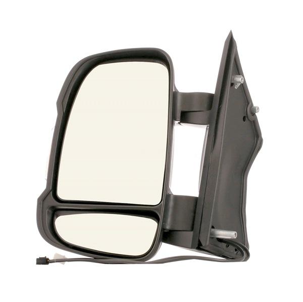 RIDEX Vnější zpětné zrcátko FIAT levá, konvexní, s teplotním senzorem, krátké raménko zrcátka, černá