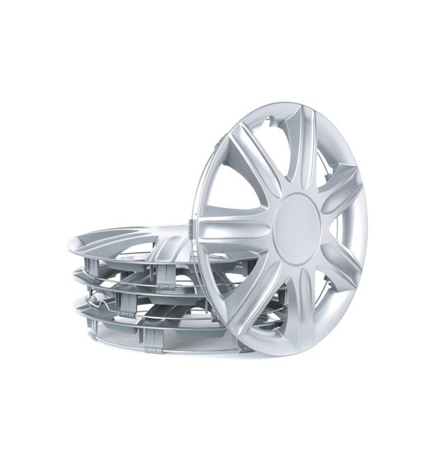 Wheel covers Quantity Unit: Kit, Silver RUBIN13
