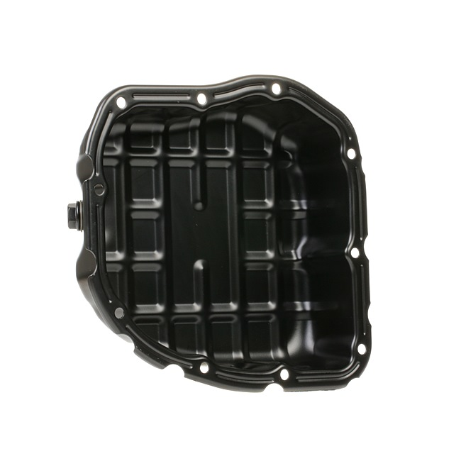 Engine oil sump STARK 14738391 with oil drain plug, Sheet Steel, with seal ring, without oil sump gasket
