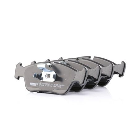 FERODO PREMIER ECO FRICTION Brake Pad Set, disc brake prepared for wear  indicator, with piston clip, with accessories