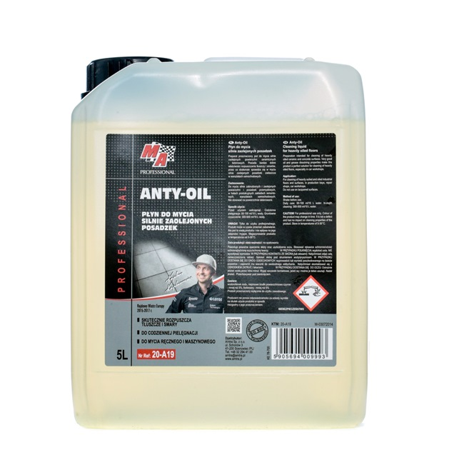Hochleistungsentfetter MA PROFESSIONAL 20-A19 für Auto (ANTY OIL MA PROFESIO, Inhalt: 5l)