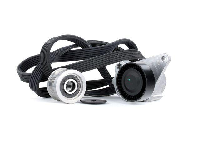 Poly v-belt kit RIDEX 15080454 Check alternator freewheel clutch & replace if necessary