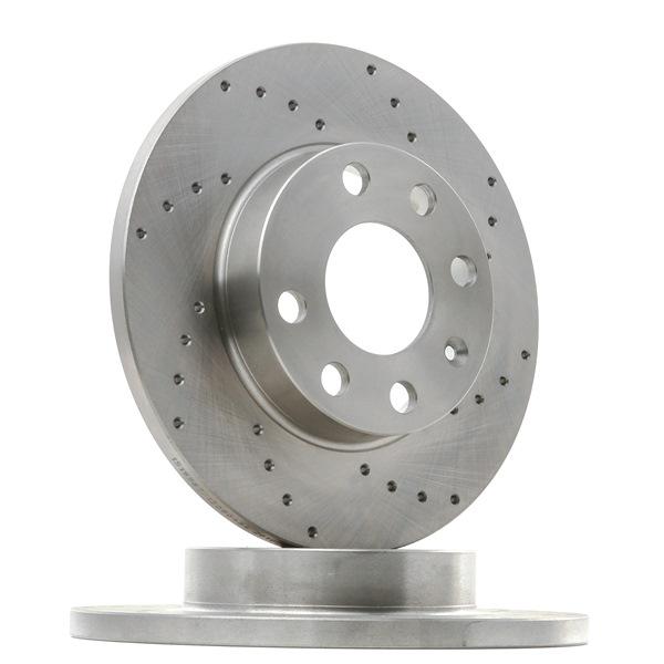 Спирачни дискове RIDEX 15080464 надупчен, плътен