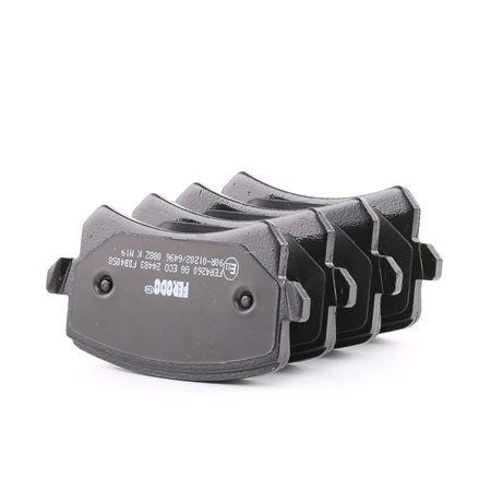 Bremsbelagsatz, Scheibenbremse Höhe 1: 56mm, Dicke/Stärke: 16,8mm mit OEM-Nummer 3C0-698-451-F