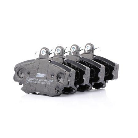 Bremsbelagsatz, Scheibenbremse Höhe 1: 65mm, Dicke/Stärke: 18mm mit OEM-Nummer 7701201773