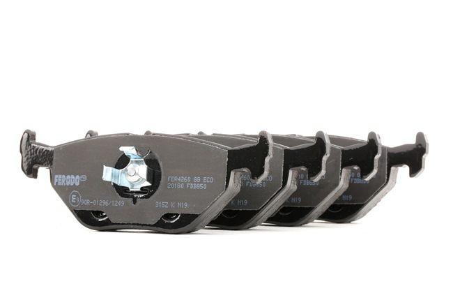 Bremsbelagsatz, Scheibenbremse Höhe 1: 43,6mm, Dicke/Stärke: 16,7mm mit OEM-Nummer 3421 116 2446