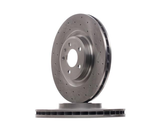 Brake Disc Brake Disc Thickness: 30mm, Num. of holes: 5, Ø: 345mm with OEM Number 8K0615301B