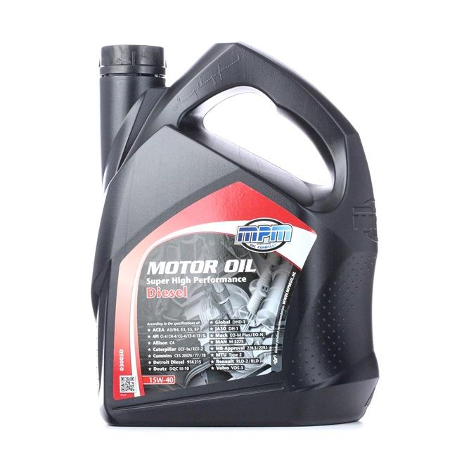 MPM Motorenöl RENAULT RLD 15W-40, Inhalt: 5l, Mineralöl