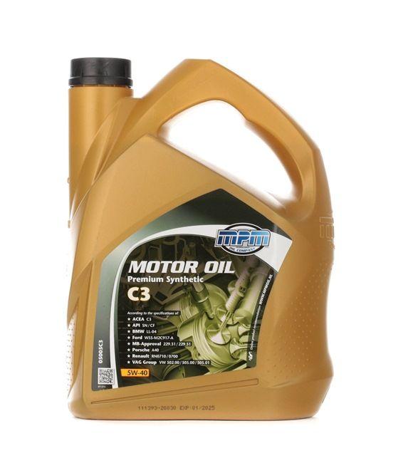 Olio auto 5W-40, Contenuto: 5l, Olio sintetico EAN: 8714293050629