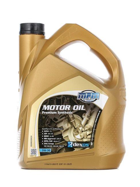 Olio auto 5W-30, Contenuto: 5l, Olio sintetico EAN: 8714293050292