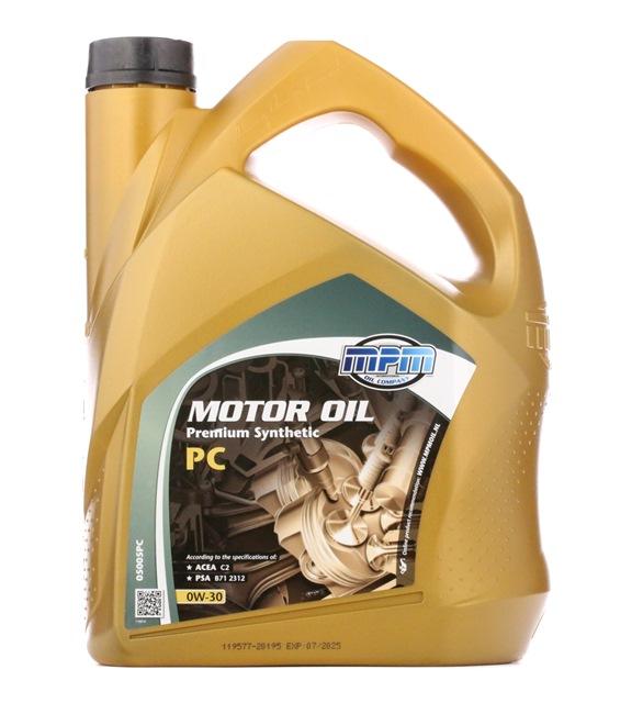 Olio auto 0W-30, Contenuto: 5l, Olio sintetico EAN: 8714293050537