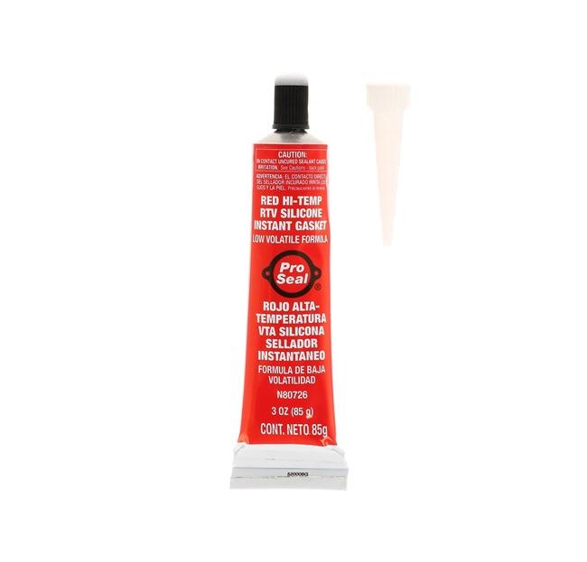 Motordichtmasse Pro Seal 10-042 für Auto (Tube, Blisterpack, rot, Silikon, Inhalt: 85ml, ölbeständig)
