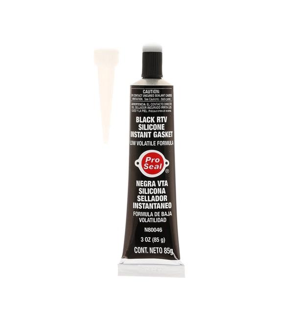 Motordichtmasse Pro Seal 10-043 für Auto (Tube, Blisterpack, schwarz, Silikon, Inhalt: 85ml, ölbeständig)