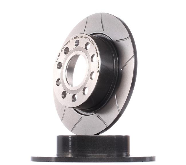 Bremsscheibe Bremsscheibendicke: 10mm, Lochanzahl: 9, Ø: 253mm mit OEM-Nummer 5Q0615601F