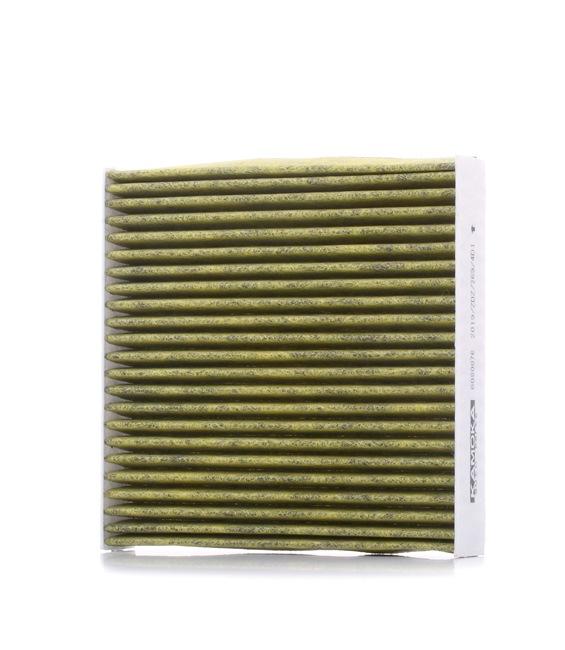 Filtro de aire acondicionado KAMOKA 15499309 Filtro de carbón activado, con efecto bactericida, Filtro partículas finas (PM 2.5), con efecto fungicida, con efecto antialérgico
