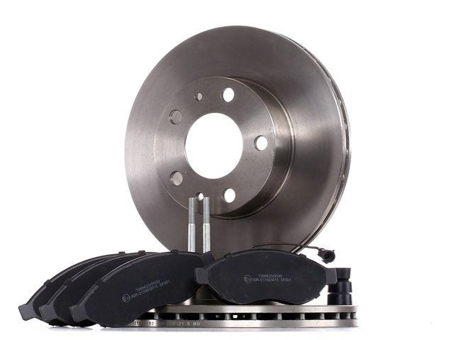 Bremsscheiben Bremsbeläge vorne hinten für Fiat Ducato Pritsche//Fahrgestell 250