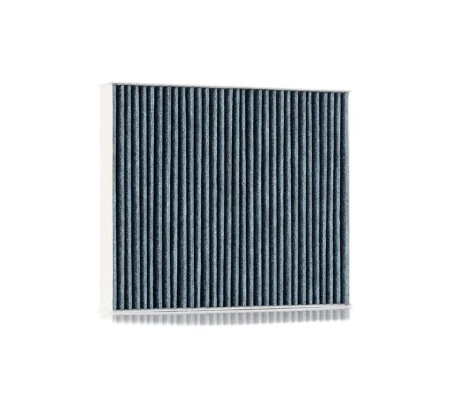 Filtro de aire acondicionado RIDEX 15783022 con efecto antialérgico, con efecto bactericida, Filtro de carbón activado, Filtro partículas finas (PM 2.5)