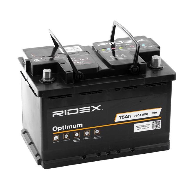RIDEX OPTIMUM Μπαταρία B13 , 74 Ah , 12 V , L3 , 680 Α , με χειρολαβές, Μπαταρία μολύβδου οξέος, χωρίς ένδειξη στάθμης
